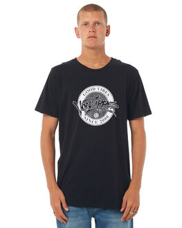 BLACK MENS CLOTHING VONZIPPER TEES - 3972004BLK