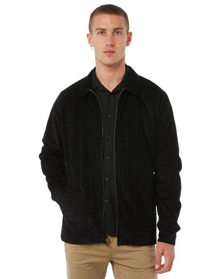 BLACK MENS CLOTHING RVCA JACKETS - R183440BLK