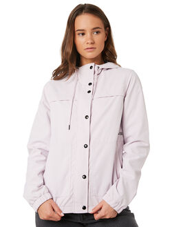 LIGHT PURPLE WOMENS CLOTHING VOLCOM JACKETS - B1511800LPU