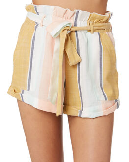 MULTI WOMENS CLOTHING RIP CURL SHORTS - GWAND98817