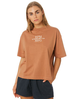 TAN WOMENS CLOTHING RPM TEES - 9SWT04A6TAN