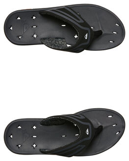 BLACK BLACK GREY MENS FOOTWEAR QUIKSILVER THONGS - AQYL100571XKKS