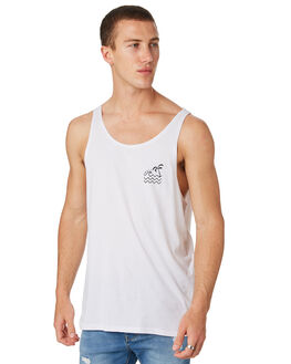 WHITE OUTLET MENS SWELL SINGLETS - S5182280WHITE