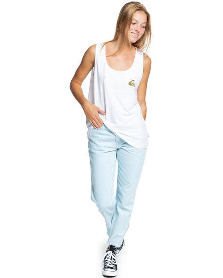 WHITE WOMENS CLOTHING QUIKSILVER SINGLETS - EQWZT03029-WBB0