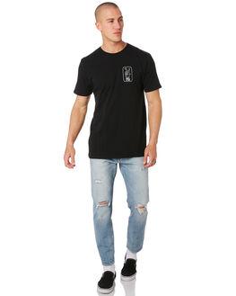 BLACK MENS CLOTHING SWELL TEES - S5194003BLACK