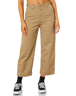 LEATHER RINSED WOMENS CLOTHING CARHARTT PANTS - I0273968Y02
