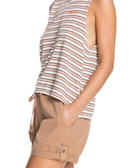 MOCHA MOUSSE WOMENS CLOTHING ROXY SHORTS - ERJNS03303-CLR0