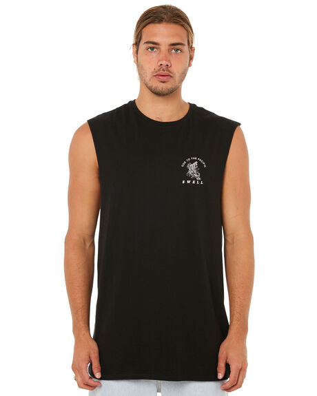 BLACK MENS CLOTHING SWELL SINGLETS - S5183273BLACK