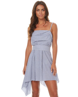 BLUE WHITE STRIPE WOMENS CLOTHING CAMILLA AND MARC DRESSES - PCMD1449BWS