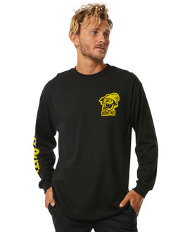 BLACK MENS CLOTHING BRIXTON TEES - 06834BLACK