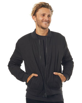 BLACK MENS CLOTHING SWELL JACKETS - S5171383BLK