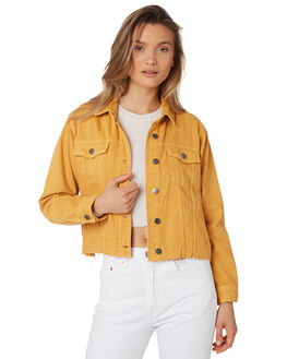 HONEY GOLD WOMENS CLOTHING RVCA JACKETS - R293432HON