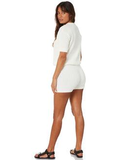WHITE WOMENS CLOTHING RUE STIIC SHORTS - SW-20-K-15-WWHT