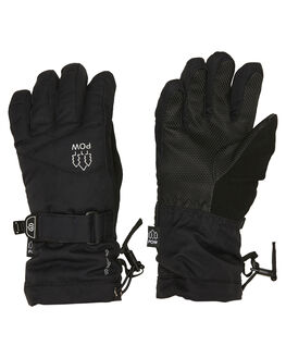BLACK BOARDSPORTS SNOW POW GLOVES - ASG-C-S-HIP-BKBLK