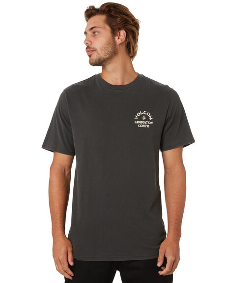 BLACK MENS CLOTHING VOLCOM TEES - A5212002BLK