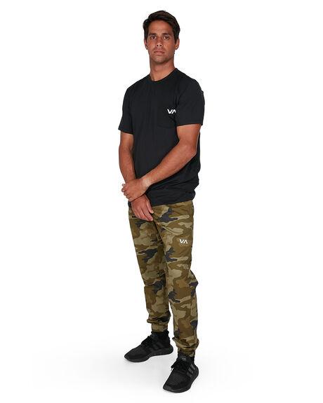 GREEN CAMO MENS CLOTHING RVCA PANTS - RV-R307276-GC2