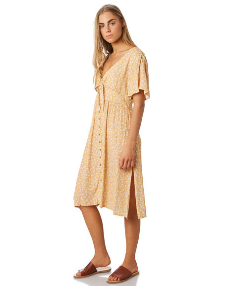 MUSTARD WOMENS CLOTHING THE HIDDEN WAY DRESSES - H8184444MUST