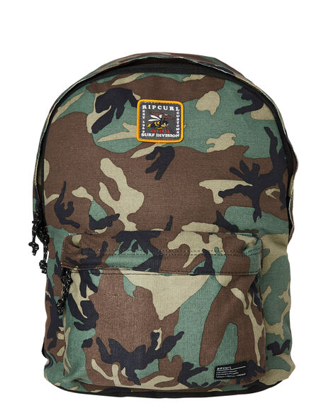 MILITARY GREEN MENS ACCESSORIES RIP CURL BAGS + BACKPACKS - BBPXC10854