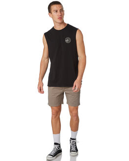 BLACK MENS CLOTHING SWELL SINGLETS - S5182273BLACK