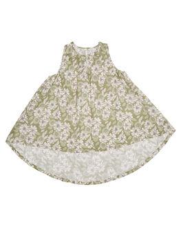 OLIVE FLORAL KIDS TODDLER GIRLS ISLAND STATE CO DRESSES - FLRHLDRS-OLVFL