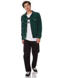 DEEP GREEN CORD MENS CLOTHING DR DENIM JACKETS - 1911133312GRNCD