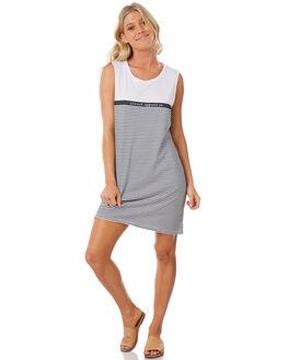 NAVY STRIPE WOMENS CLOTHING ELWOOD DRESSES - W83715-JF6