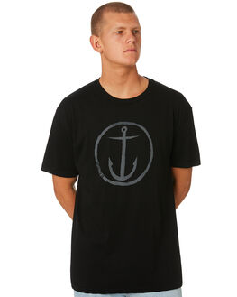 BLACK MENS CLOTHING CAPTAIN FIN CO. TEES - CT172200BLC