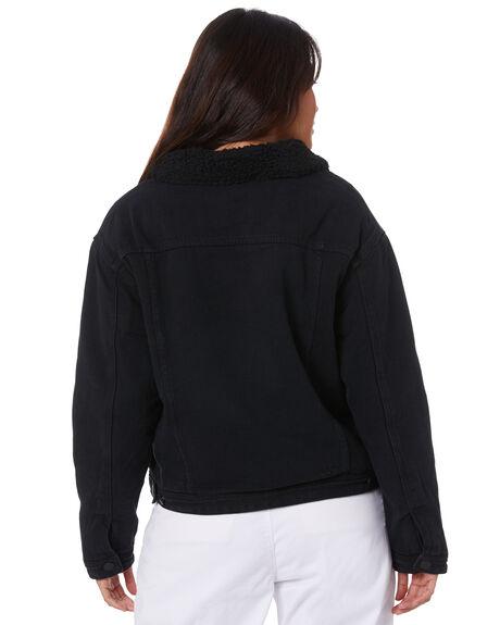 WASHED BLACK OUTLET WOMENS MISFIT JACKETS - MT105703WBLK