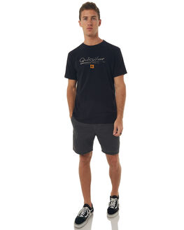 BLACK MENS CLOTHING QUIKSILVER TEES - EQMZT03043KVJ0