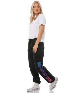 BLACK WOMENS CLOTHING RUSTY PANTS - PAL1035BLK