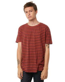 AURORA RED MENS CLOTHING NUDIE JEANS CO TEES - 131561C24