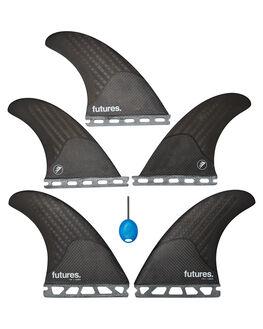 BLACK CARBON BOARDSPORTS SURF FUTURE FINS FINS - 1017-465-50BLKC