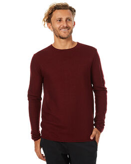 BURGUNDY MENS CLOTHING SWELL KNITS + CARDIGANS - S5162149BURG