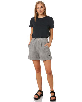 WHITE CHECK WOMENS CLOTHING STUSSY SHORTS - ST192611WTCHK