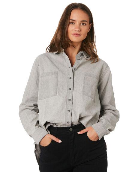 SOFT GREY WOMENS CLOTHING RUSTY FASHION TOPS - WSL0602SOG
