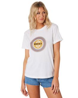 WHITE WOMENS CLOTHING SWELL TEES - S8201011WHI