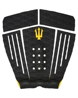 BLACK YELLOW BOARDSPORTS SURF FK SURF TAILPADS - 1201BBKYEL