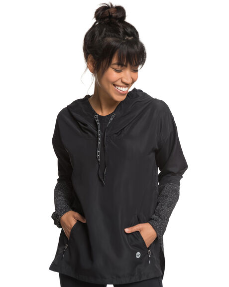 TRUE BLACK WOMENS CLOTHING ROXY JACKETS - ERJJK03258KVJ0