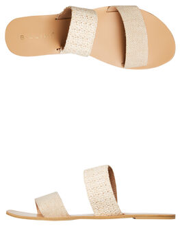 NATURAL WOVEN RAFFIA WOMENS FOOTWEAR BILLINI SLIDES - 5564NAT