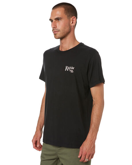 BLACK WASH MENS CLOTHING KATIN TEES - TSKAT07BWSH