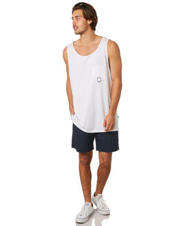 WHITE MENS CLOTHING RPM SINGLETS - 8SMT08BWHT