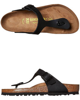 BLACK WOMENS FOOTWEAR BIRKENSTOCK FASHION SANDALS - 043691WBLK