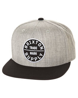 HEATHER GREY BLACK MENS ACCESSORIES BRIXTON HEADWEAR - 213-00173-0335HGRY