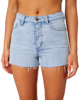 WASTED BLUE WOMENS CLOTHING THRILLS SHORTS - WTDP-330EBLUE