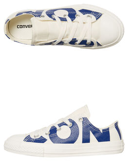NATURAL BLUE KIDS BOYS CONVERSE SNEAKERS - 359535NABLU