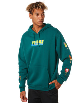 COLLEGIATE GREEN MENS CLOTHING ADIDAS JUMPERS - EC7335CLGRN