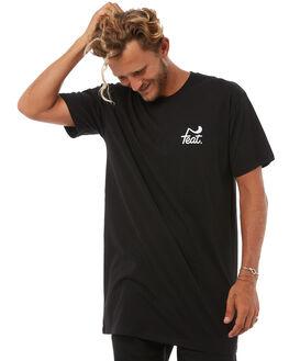 BLACK MENS CLOTHING FEAT TEES - FTTTLOG01BLK