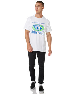 WHITE MENS CLOTHING LOWER TEES - LO19Q1MTS11WHT