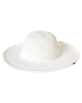 WHITE WOMENS ACCESSORIES HURLEY HEADWEAR - AGHATOPS10A