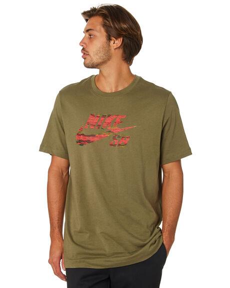 a886efe191 Nike Sb Logo Mens Tee - Medium Olive | SurfStitch